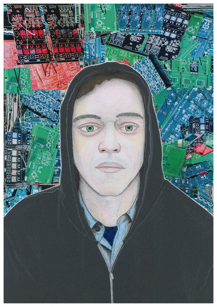 'Elliot from Mr. Robot' print