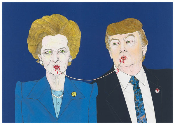 'Iron Lady and the Trump' print