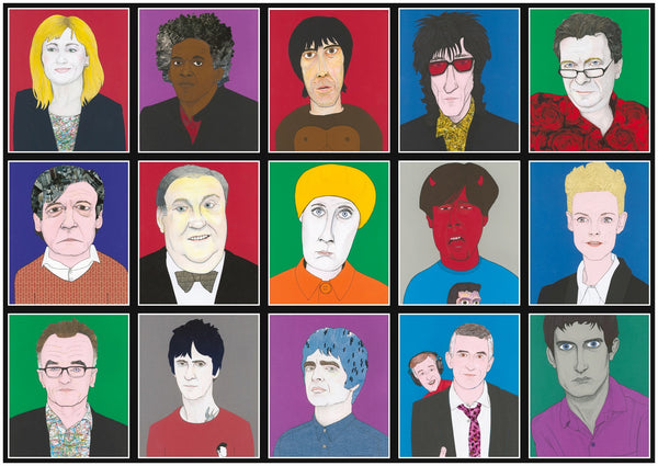 NEW PRINT - 'Manchester Icons'