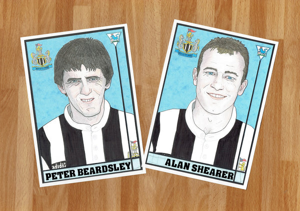 'Peter Beardsley and Alan Shearer' print