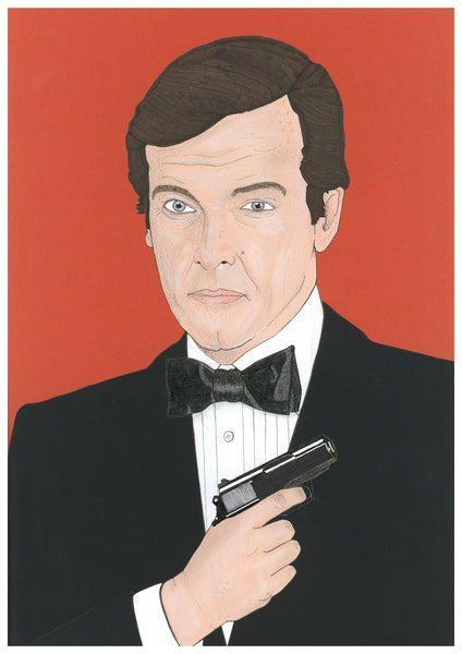 'Roger Moore as Bond' print