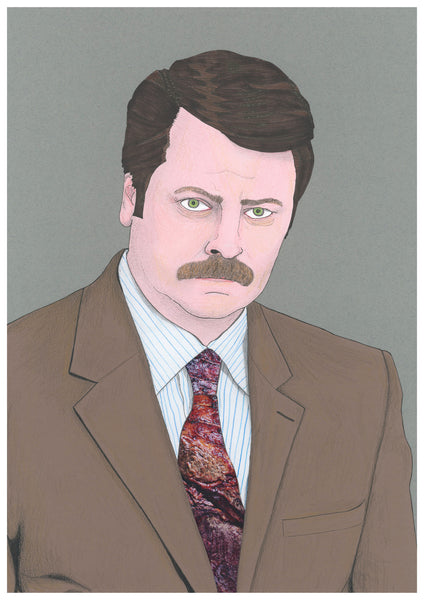 'Ron Swanson from Parks and Recreation' print