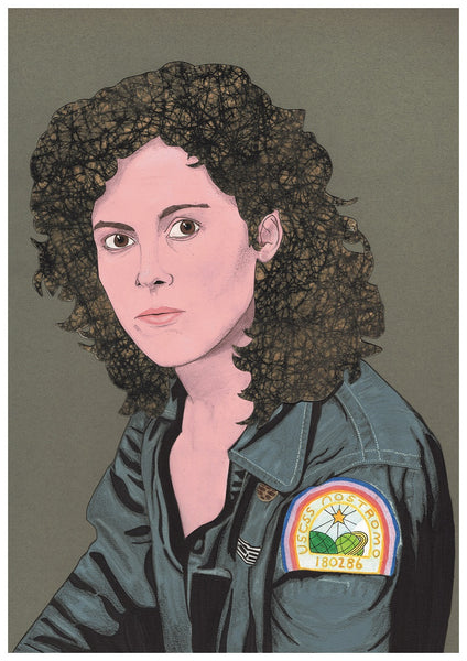 'Sigourney Weaver as Ripley in Alien' print