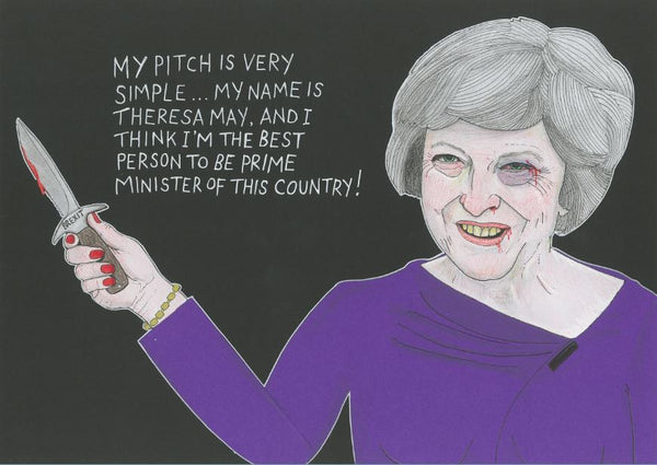 'Theresa May's Pitch' - original illustration