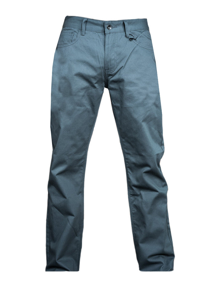 Grey Five Pocket Twill Pant - Brooklyn Xpress