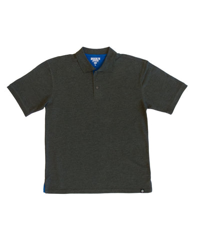 Charcoal Polo Shirt with Royal Blue Contrast - Brooklyn Xpress