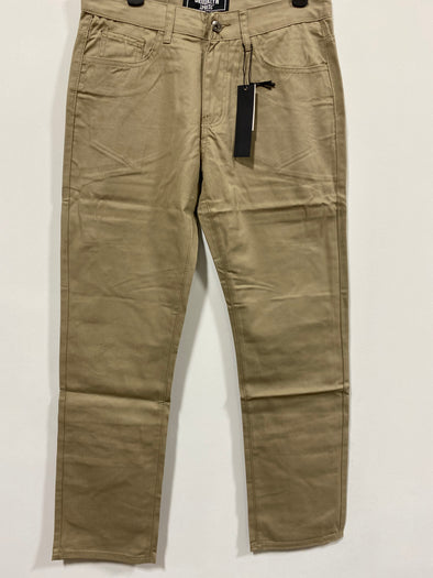 Khaki Five Pocket Twill Pant - BX8146P