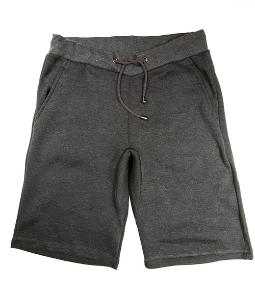 Heather Black Fleece Short
