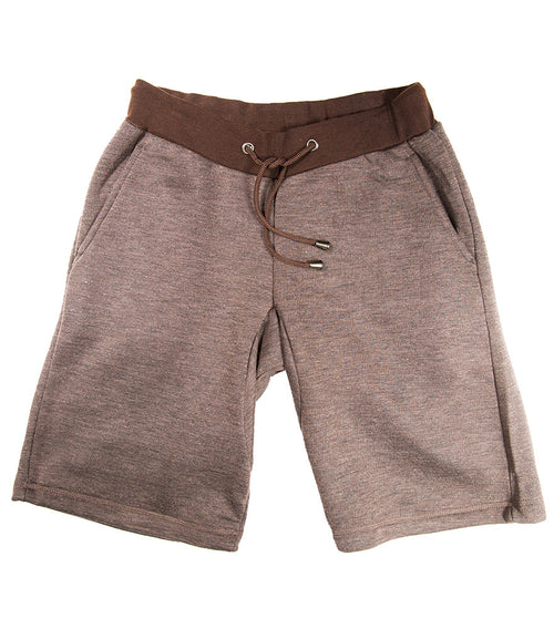 Heather Coffee Fleece Short