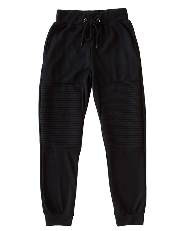 Black Moto Men's Joggers - Brooklyn Xpress