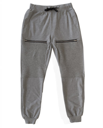 Heather Grey Men's Moto Joggers