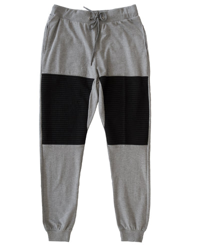 Heather Grey Men's Moto Joggers - Brooklyn Xpress