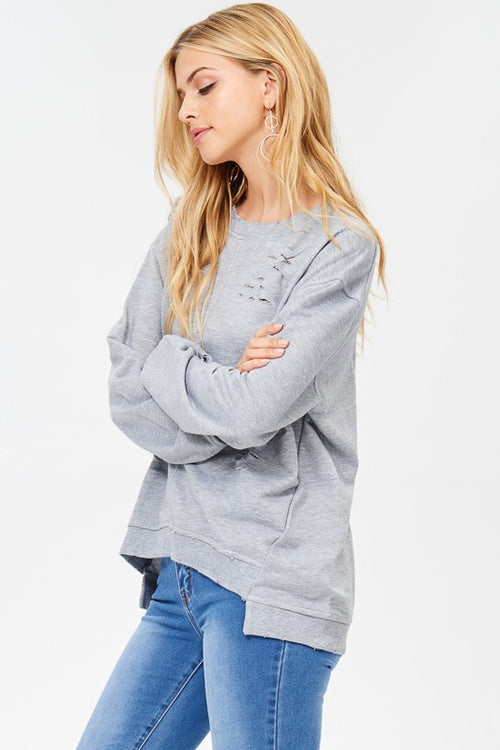 Grayson Distressed Sweatshirt