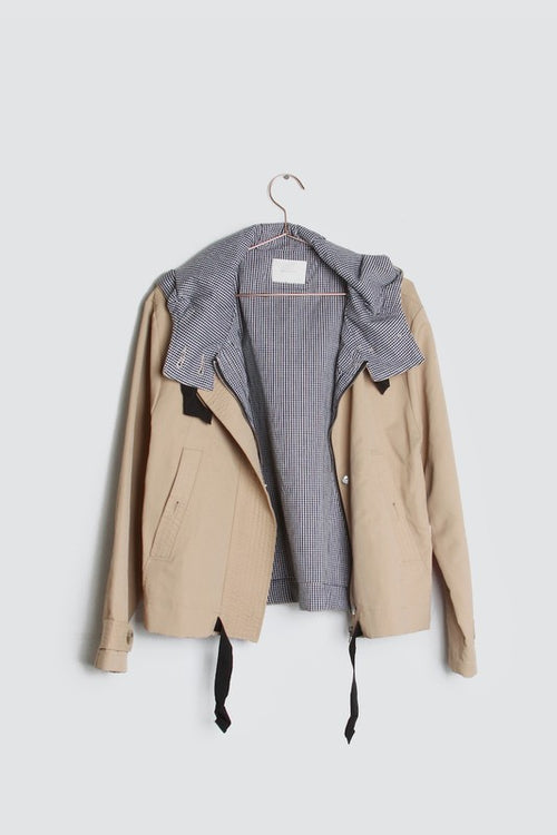 Stephens Khaki Gingham Jacket