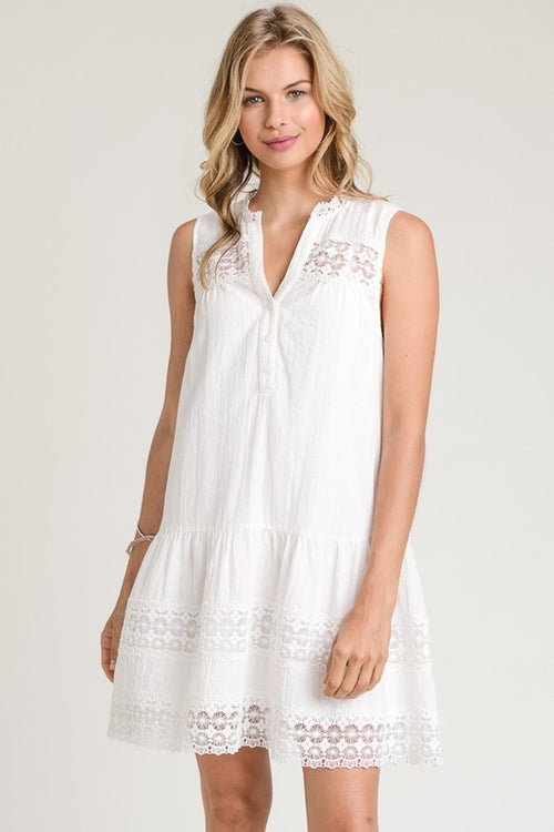 Solerno White Tunic Dress