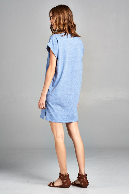 Seaside Blue Tee Shirt Dress