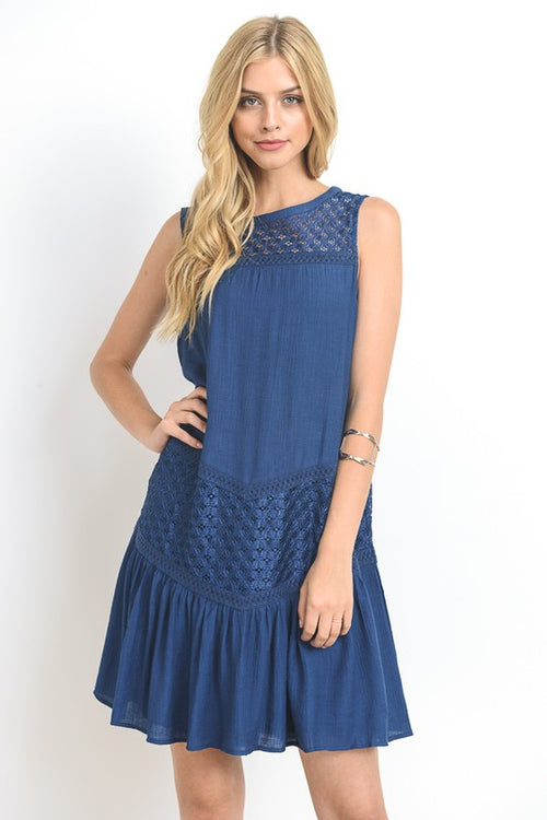 Carolina Navy shift dress