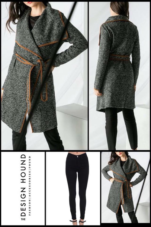 Henderson Knit Trench Coat by THML