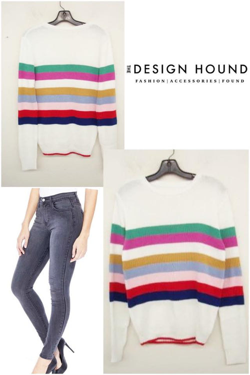 Miami Striped Sweater by English Factory