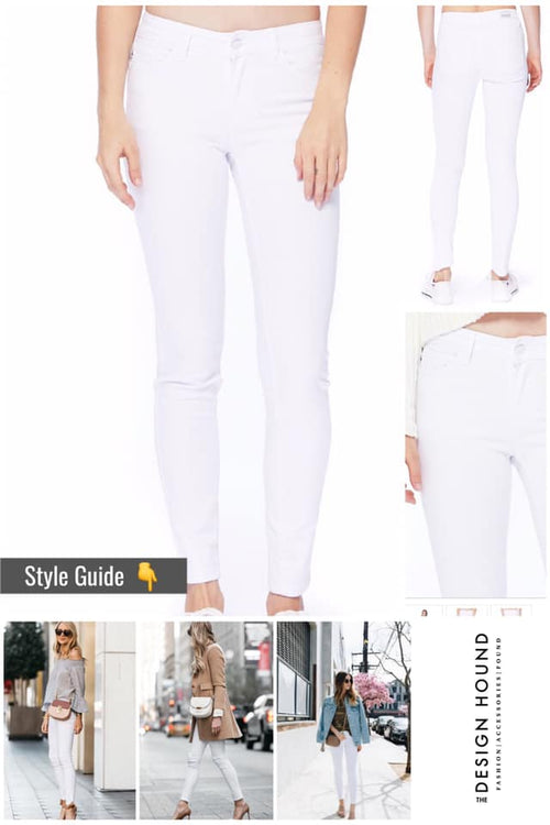 Avalon White Five Pocket Skinny Jeans by Judy Blue Brand