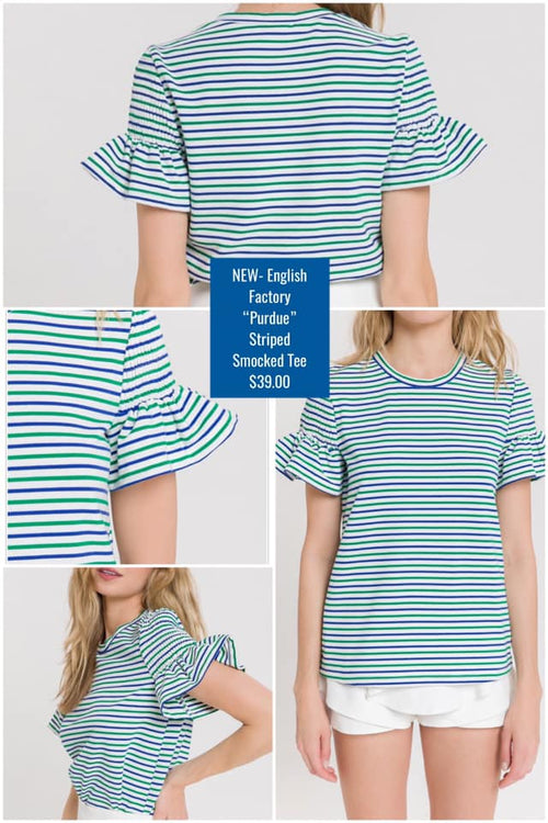 Emerson Smocked Striped Tee by English Factory Brand