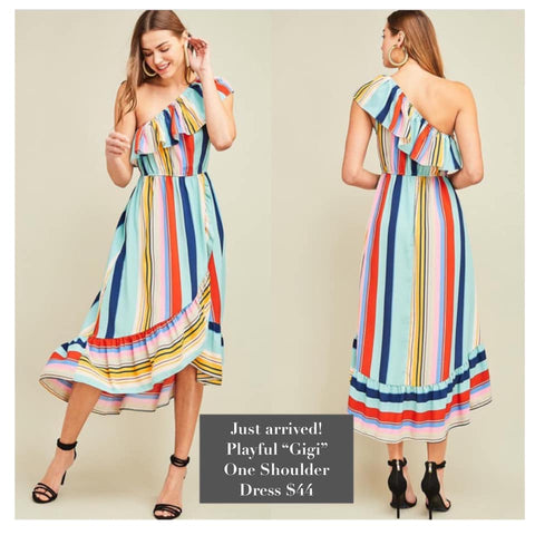 Barbados Striped Coverup Dress
