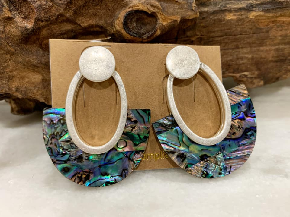 Milan Abalone Drop Earrings