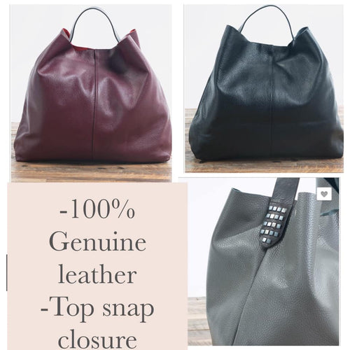 Lancaster Genuine Leather Boho Tote