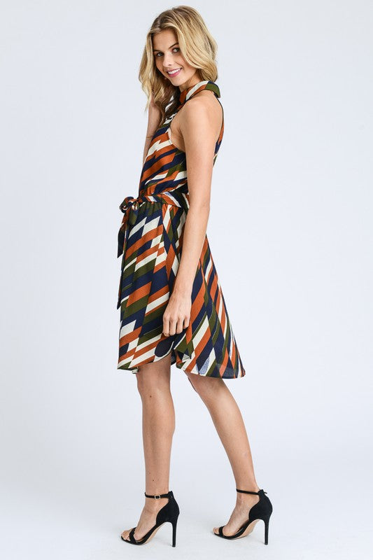 Aria Print Wrap Dress