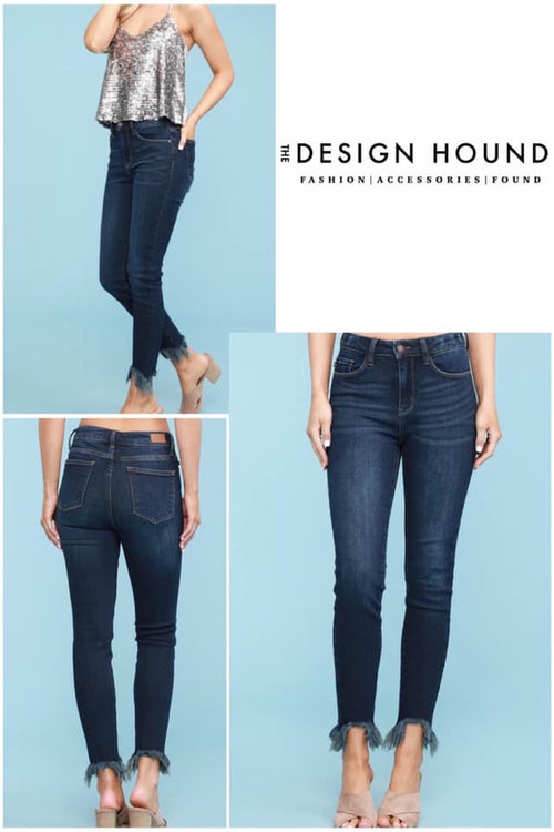 Sydney Cut Out Fray Jeans by Judy Blue