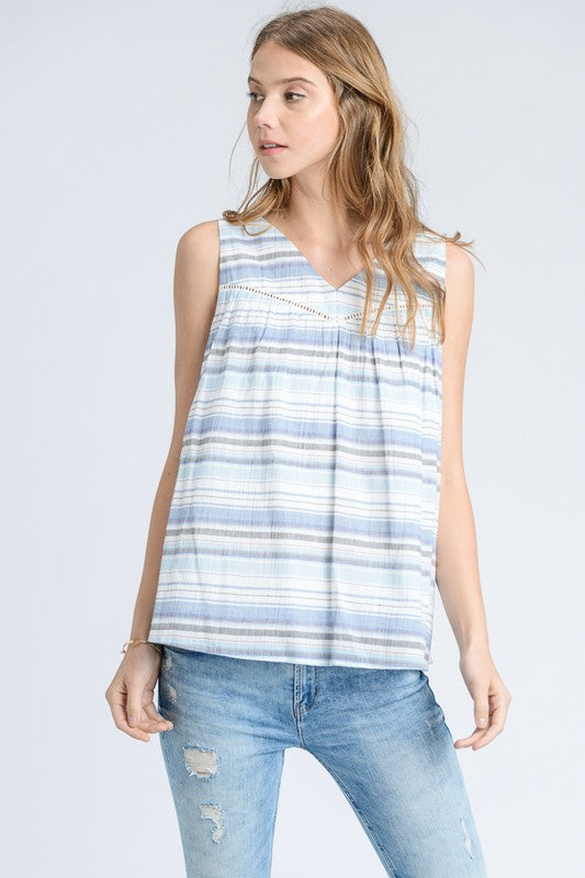 Camille Striped Sleeveless Top