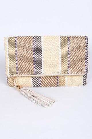 Black Iconic Bamboo Clutch