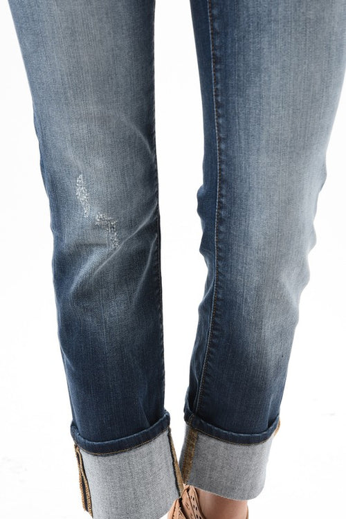 James Dark Cuffed Jeans