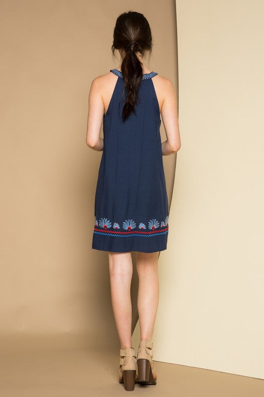 THML Navy Halter Tank Dress