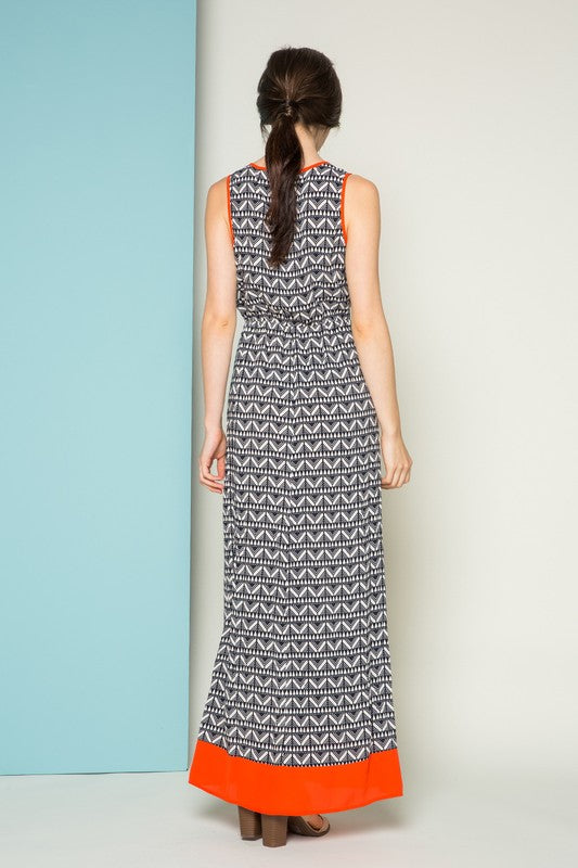 Marco Printed THML Maxi Dress