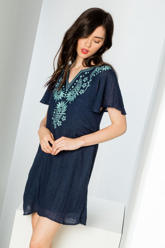 Natalie THML Embroidered Dress