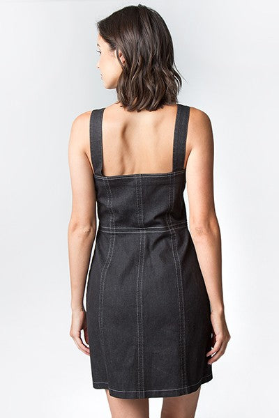 Haskell Black Denim Dress