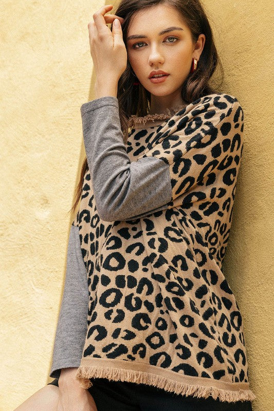 Gregory Leopard Print Knit Top by THML