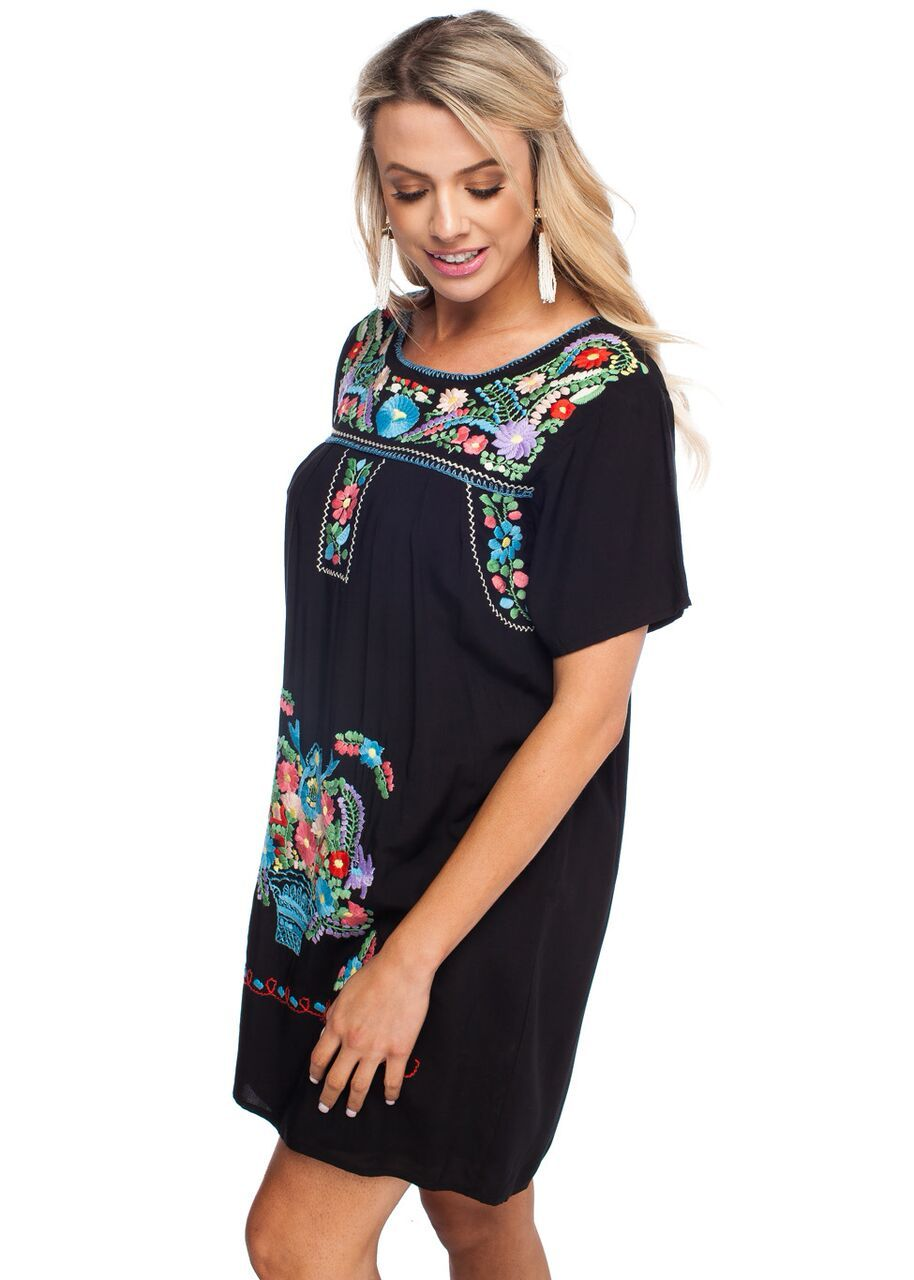 Maya Embroidered Dress