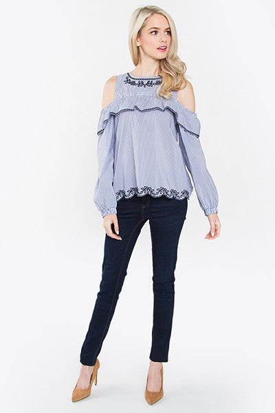 Pedregal Cold Shoulder Top