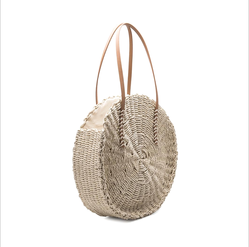 Ciara Straw Circle Bag