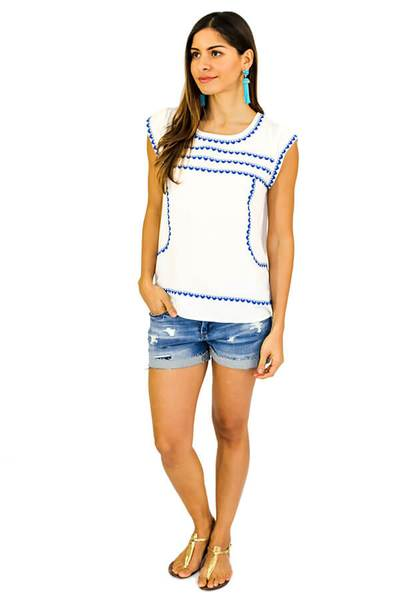 Lucia THML Embroidered Top