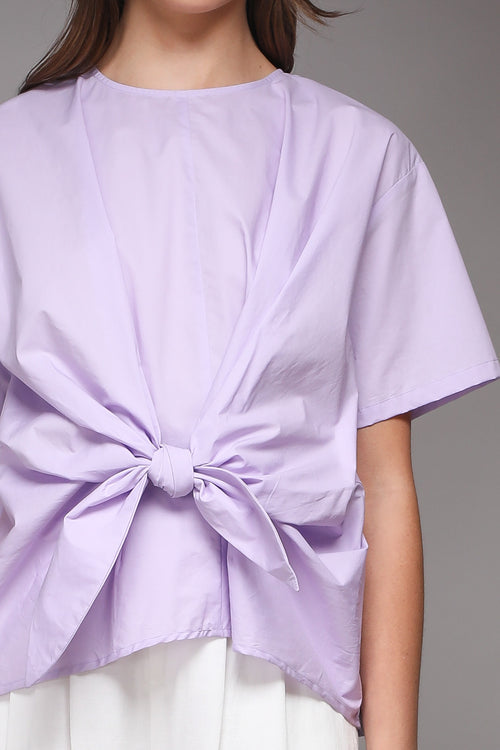 Callie Front Knot Lilac Blouse