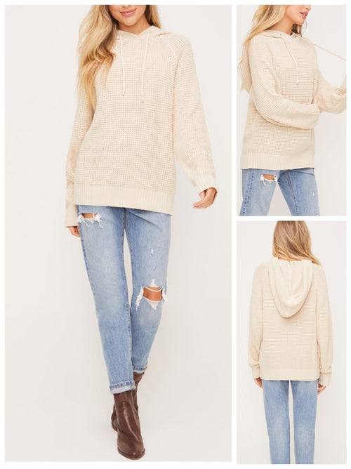 Collins Beige Hooded pullover