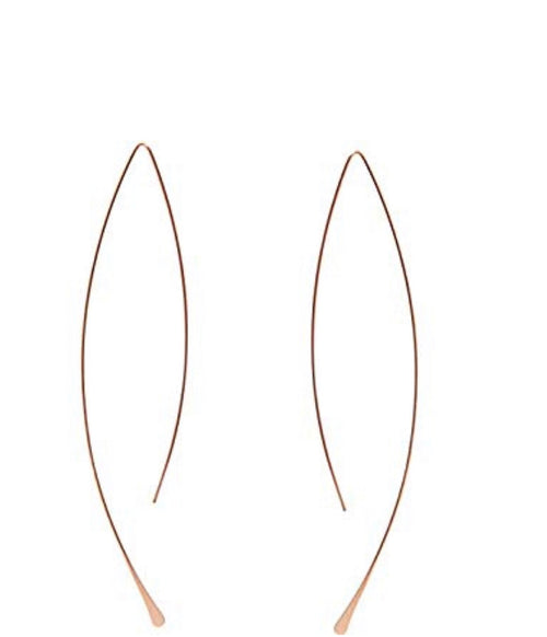 Rose Gold Upside Hoop Earrings