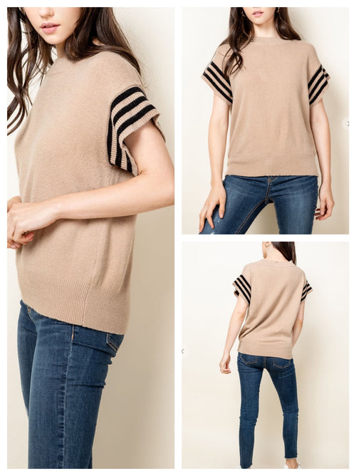 Hudson short sleeve knit top by THML
