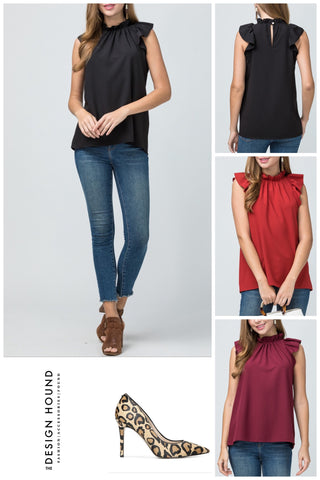Boston Pleated Peplum Top