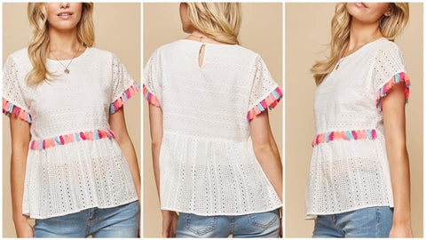 Paris White Top by THML Clothing