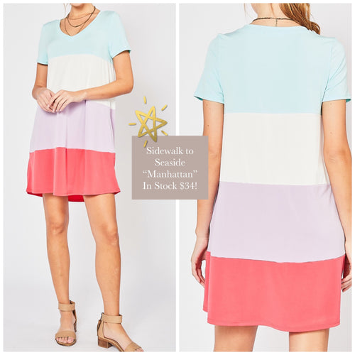 Tatum Colorblock Scoop Neck dress