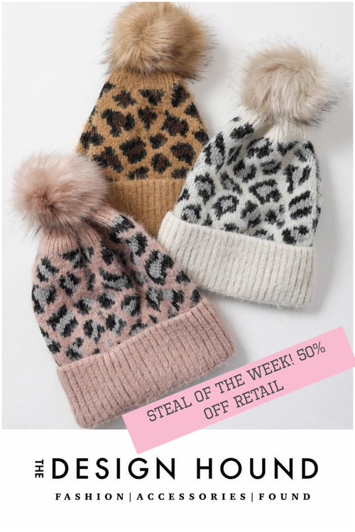 Super Soft Spotter Beanie with Pom